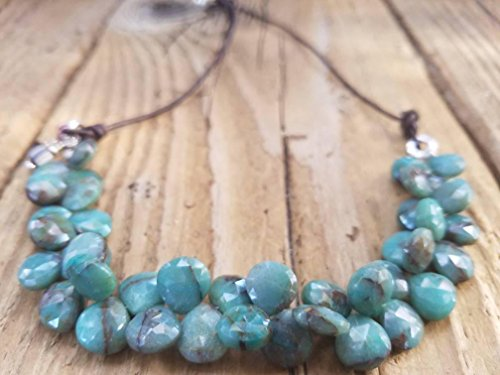 Chrysocolla and Hill Tribe Silver Necklace