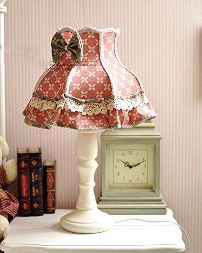 Unbekannt Set Tischlampe-Lampe kontinentale idyllische Landschaft amerikanischen Schlafzimmer Retro-Baumwolle Leinen Mashups Dekoration Lampe Nachttischlampe