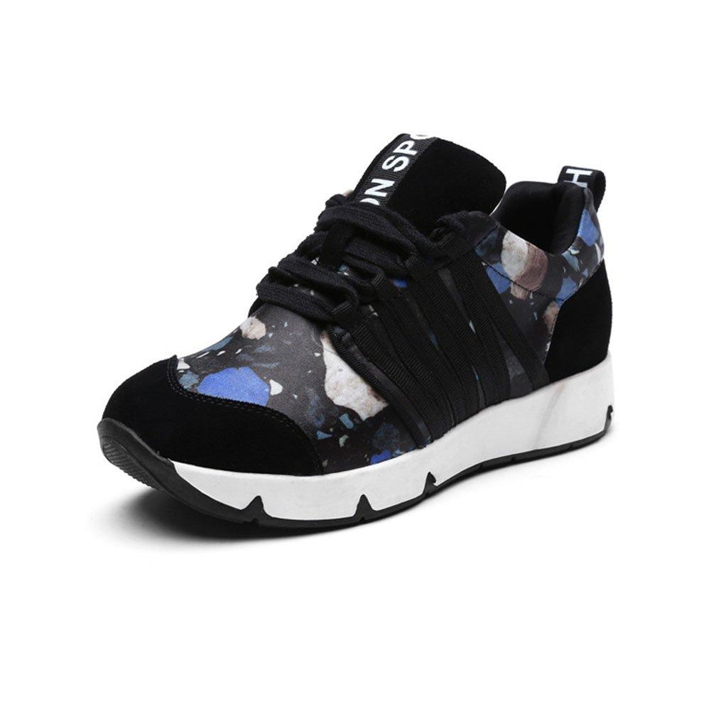 Zapatillas de Deporte de Las Mujeres Zapatos Casuales 2018 Zapatillas de Deporte de Cuero de la Caída de Primavera Zapatillas de Deporte (Capacity : 36, Color : Azul) 36|Azul