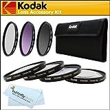Kodak 52mm Pro Macro Photography Kit Includes: +1 +2 +4 +10 Close-Up Macro Filter Set with Pouch + 52mm 3pc. Filter Kit (UV, CPL, FLD) with Pouch For Nikon Df, D7100, D7000, D5300 D5200 D3300 D5100 D3200 D3100, D800, D700, D600, D610 D300S D90 DSLR, P600