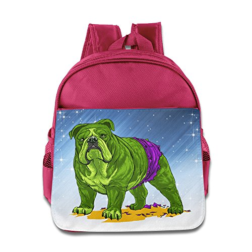 [D2 Fashion Hulk Dog Kids' Backpack For 3-6 Years Old Childrens Pink Size One Size] (Hulkbuster Costume For Kids)