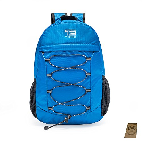 394219d09876 25L TIBAG Water Resistant Lightweight Packable Folding Foldable Daypack  Backpack (ROYAL BLUE
