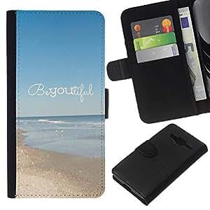 Supergiant (Beautiful Summer Motivational Text) Dibujo PU billetera de cuero Funda Case Caso de la piel de la bolsa protectora Para Samsung Galaxy Core Prime / SM-G360