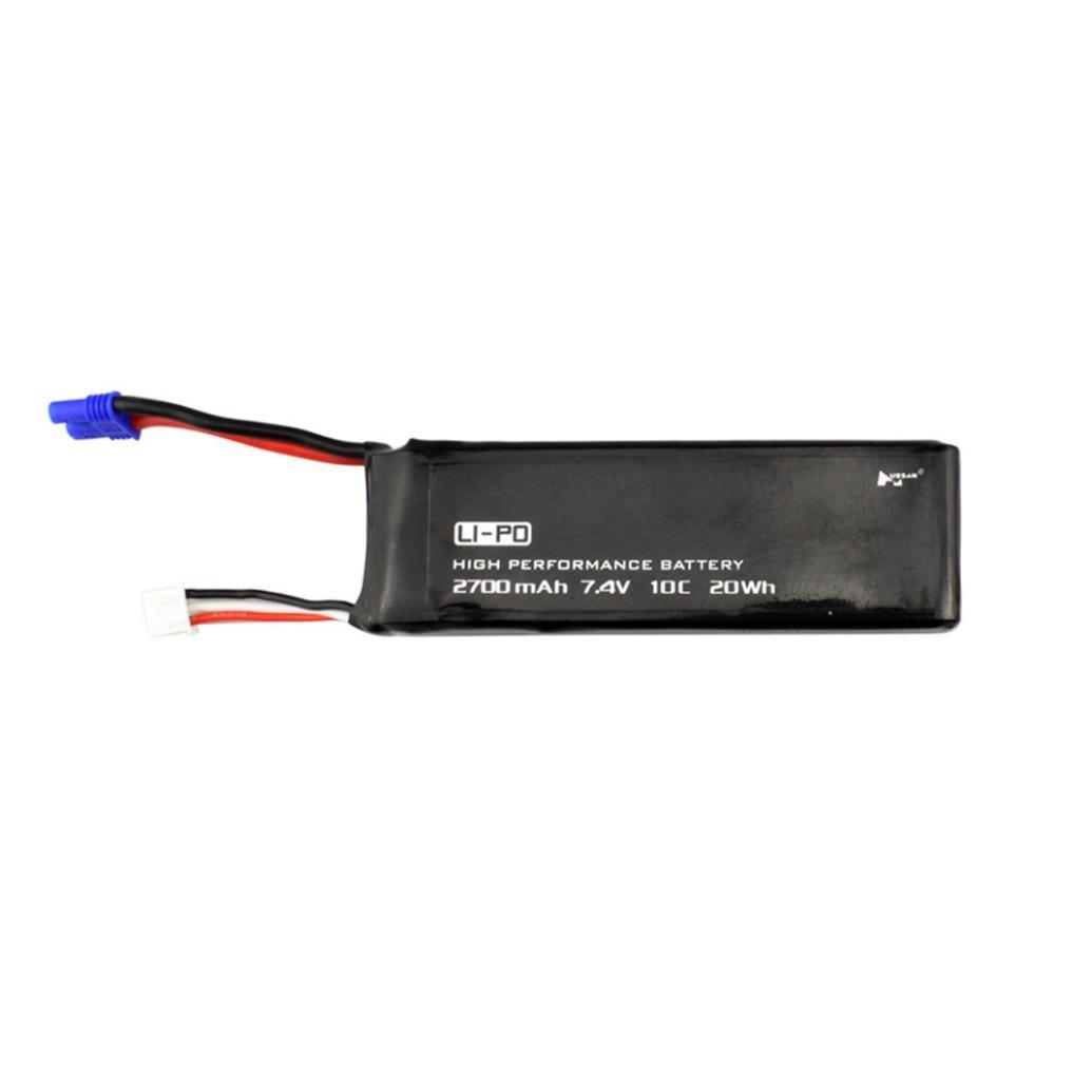 MMLC 1 pc Schwarz 7,4 V 2700 MAH 10C Batterie Mit EC2 Stecker für Hubsan H501S X4 (a) MMLC@