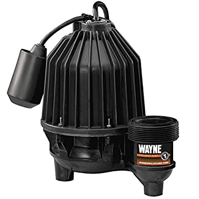 WAYNE EFL33 Thermoplastic Submersible/Effluent Pump With Piggy Back Tether Float Switch