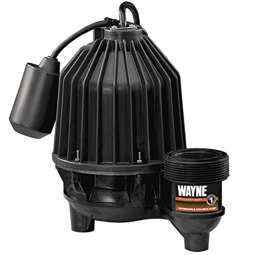 WAYNE EFL33 Thermoplastic Submersible/Effluent Pump With Piggy Back Tether Float Switch by Wayne