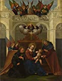 Best LuxorPre Diva Joy Umbrellas - Oil Painting 'Lodovico Mazzolino The Holy Family With Review