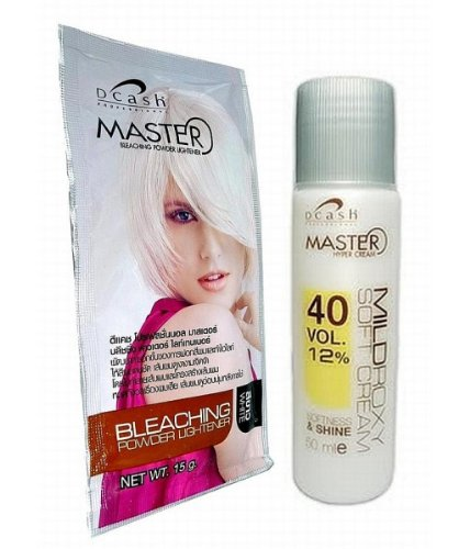 Hair Bleaching Lightening Powder Kit Platinum White by Dcash (Hair Lightener Kit)