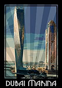 Photo Of Dubai Marina- Colour, Mounted (a5)