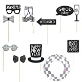 Disco New Year's Eve Photo Booth Props 12ct