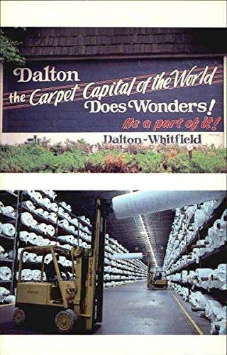 carpet capital of the world dalton georgia original vintage postcard