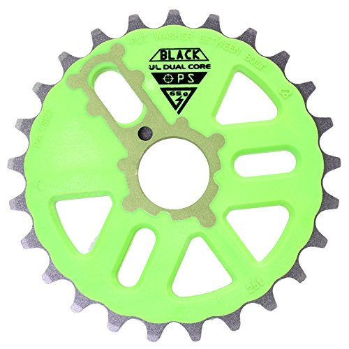 Black Ops Micro Drive Dual Core UL BMX Chainring, 25t, Green/ - Bmx Drive Micro