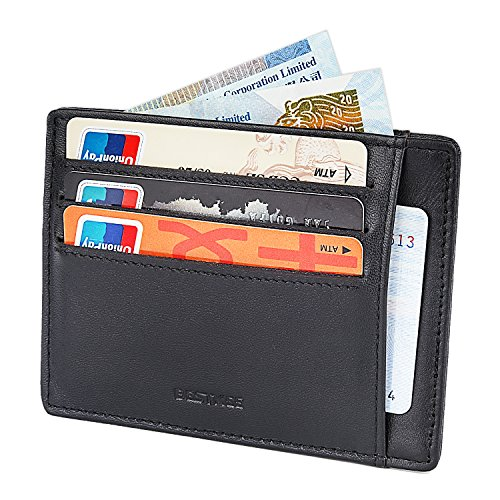 Bestkee RFID Blocking Front Pocket Wallet - Leather Slim Wallet for Men Money Clip With Card Holder