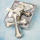 Fashioncraft, Baptism Christening Hanging Ornament Favor, Decorative Cross, Set of 40