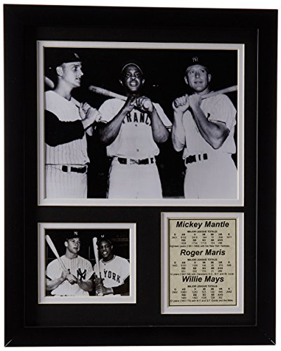 (Legends Never Die Mickey Mantle, Roger Maris and Willie Mays Framed Photo Collage, 11x14-Inch)