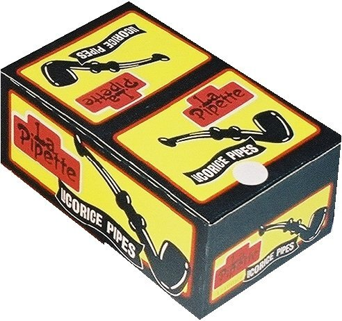 (Candy Crate Licorice Pipes, Black, 60 Count by Candy Crate)