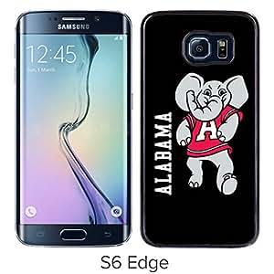ALABAMA Black Samsung Galaxy S6 Edge Screen Phone Case Unique and Luxurious Design