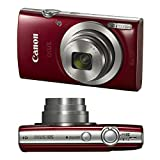 Canon PowerShot IXUS 185 / Elph 180 20MP Full HD Video Compact Digital Camera Red with Top Accessory Bundle