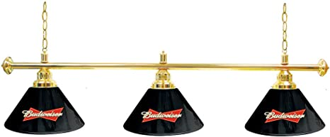 Trademark Gameroom Budweiser 3 Shade Lámpara de Billar Mesa de ...
