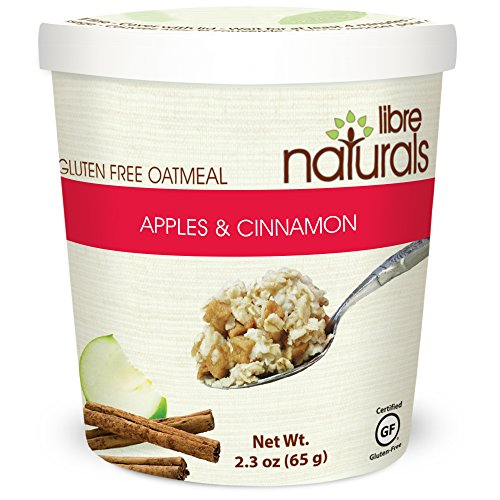 Nut Free, Gluten Free >> Apples and Cinnamon Oatmeal Cup - Libre Naturals, 2.3 oz/65 gram, Case of 12 by Libre Naturals