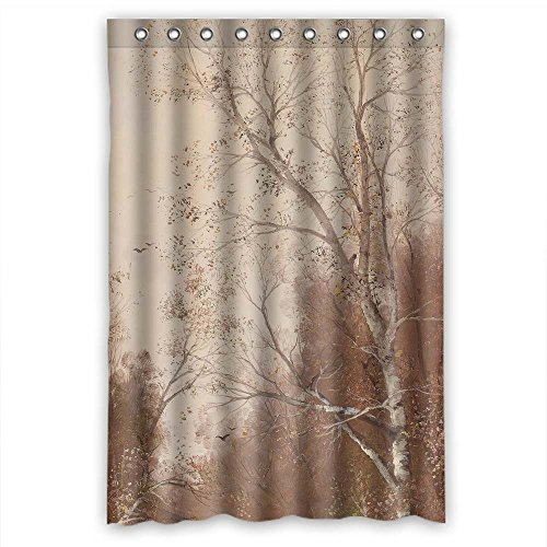 (MaSoyy The Beautiful Scenery Landscape Art Painting Shower Curtains Of Polyester Width X Height / 48 X 72 Inches / W H 120 By 180 Cm Decoration Gift For Family Girls Boys Kids. Easy Clea)