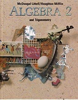 Houghton Mifflin Algebra 2 And Trigonometry Mcdougal Littell High