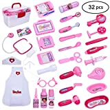Doctor Play Kit Gift for Kids –Girls,Doctor Kit for Kids,Doctor Play Set with Nurse Clothing,Doctor sets With Kids Doctor Toy Education Toys Girls Boys Gifts(32 Pieces)