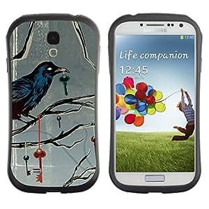 """Hypernova Slim Fit Dual Barniz Protector Caso Case Funda Para SAMSUNG Galaxy S4 IV / i9500 / i9515 / i9505G / SGH-i337 [Metáfora Clave profundo Gris Gris""""]"""