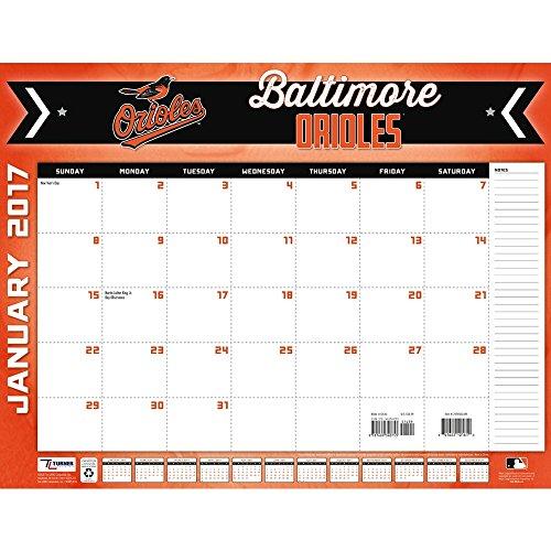 Turner Licensing Sport 2017 Baltimore Orioles Desk Pad Calendar, 22
