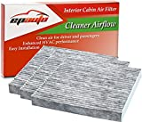 Image of 3 Pack - EPAuto CP134 (CF10134) Honda & Acura Premium Cabin Air Filter includes Activated Carbon