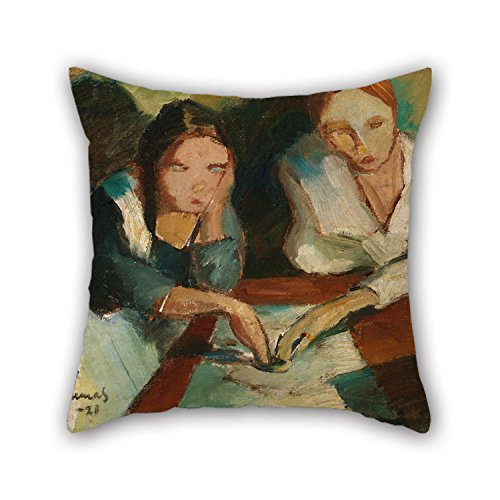 Bestseason 18 X 18 Inches / 45 By 45 Cm Oil Painting Kunnas, Väinö - A Spiritualistic Séance Pillow Covers,each Side Is Fit For Divan,chair,gril - Sa Futon