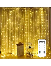 Led Curtain Lights 9.8 x 9.8-Feet 300 LEDs with Waterproof Connector