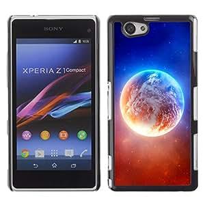 Fuerzas constrasting de la Tierra - Metal de aluminio y de plástico duro Caja del teléfono - Negro - Sony Xperia Z1 Compact / Z1 Mini (Not Z1)