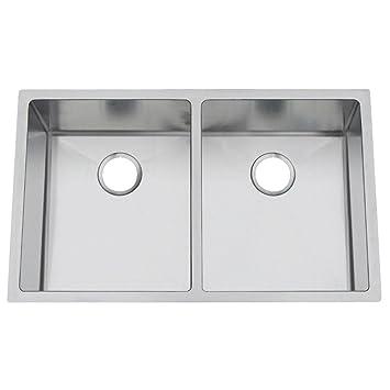 Artisan Chef Pro Undermount Stainless Stl 32x19x10 0-Hole Dbl Bowl ...