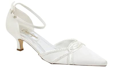 Chaussures de mariage blanches femme P84Y1vo