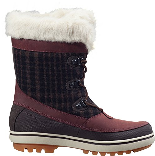 Helly Hansen Women's Georgina Winter Boot with Faux-Fur and Grip, Goose/Major Brown/Falcon, 10