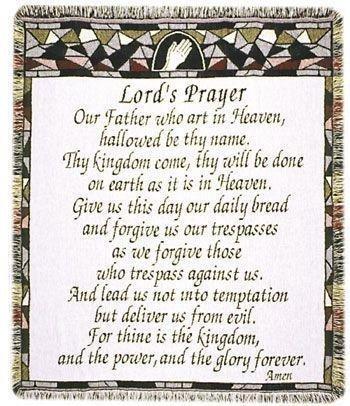 - Simply Home The Lord's Prayer Religious Afghan Throw Blanket 48