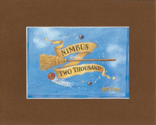 Harry Potter Nimbus Two Thousand 2000 Broom Stick Matted Print 8