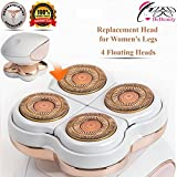 Replacement Blade Heads for Women's Hair Remover for Legs. Good Finishing & Well Touch, Bikini, Arms, Ankles. Dermatologist Recommend Replacement Every 3 Months 18K Gold Plated Razor