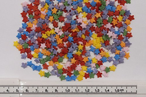 Natural Rainbow Gluten GMO Nuts Dairy Soy Free Confetti Star Bulk Pack.  by Quality Sprinkles