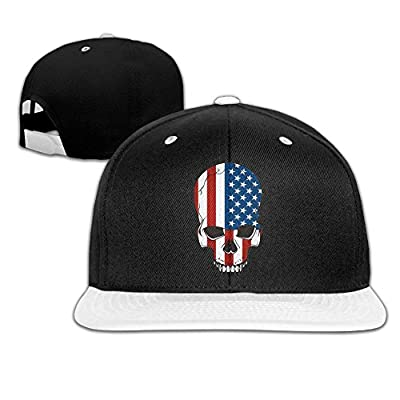 Rock Punk Trucker Hat USA Skull Unisex Baseball Caps Hip-hop Snapback White