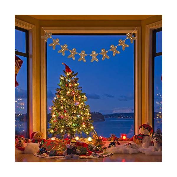 Heaven Sends Legno Gingerbread Man Ghirlanda Natalizia Decorazione, 2M 2 spesavip