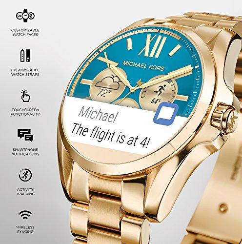 f4a8065633a7 Michael Kors Access Touch Screen Rose Gold Acetate Bradshaw Smartwatch  MKT5013