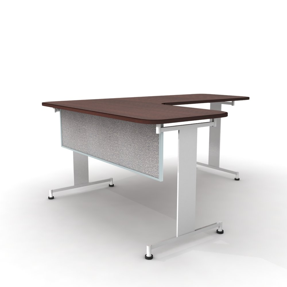 Obex 18X66A-A-PA-MP 18'' Acoustical Desk and Table Mounted Modesty Panel, Parids, 18'' x 66''