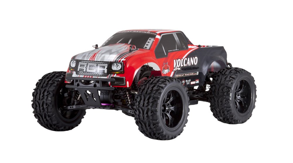 Redcat Racing Electric Volcano EPX Truck with 2.4GHz Radio,Vehicle Battery and Charger Included (1/10 Scale), Red by Redcat Racing (Image #3)