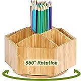 Bamboo Rotating Art Supply Organizer, 7