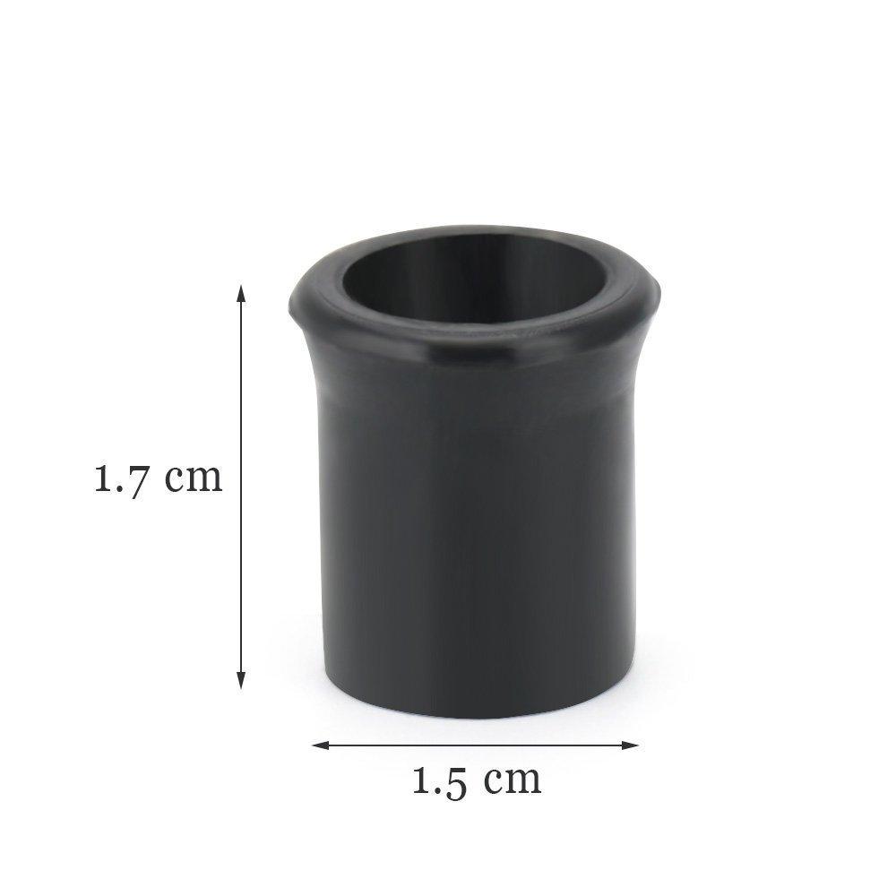 Puntas para pipa de fumar protecci/ón m/édica de goma para tallo de tubo 20 piezas
