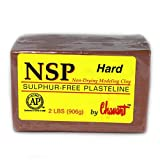 Chavant NSP HARD - 2 Lbs. Professional Oil Based Sulfur Free Sculpting Clay - Brown