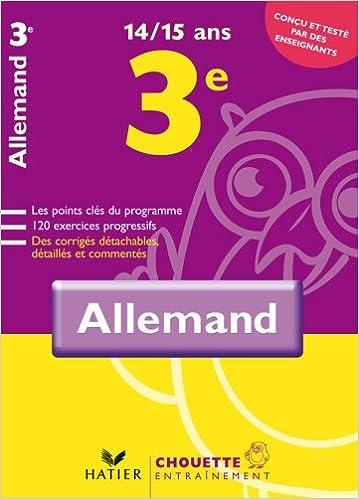 Téléchargements de livres gratuits en pdf Allemand 3e : 14-15 Ans in French PDF ePub MOBI