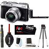 Fujifilm X-E3 Mirrorless 4K Digital l Camera w/ XF 23mm f2 XF Lens (Silver) w/ Fuji Metal X-E3 HandGrip + Focu